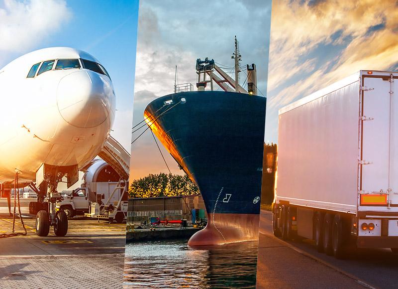 Transport & transit aérien, maritime et terrestre